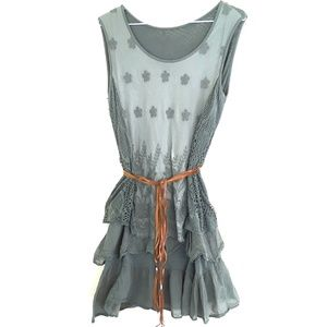 Dresses & Skirts - Made in Italy Boho Sage Green Womens Dress - S